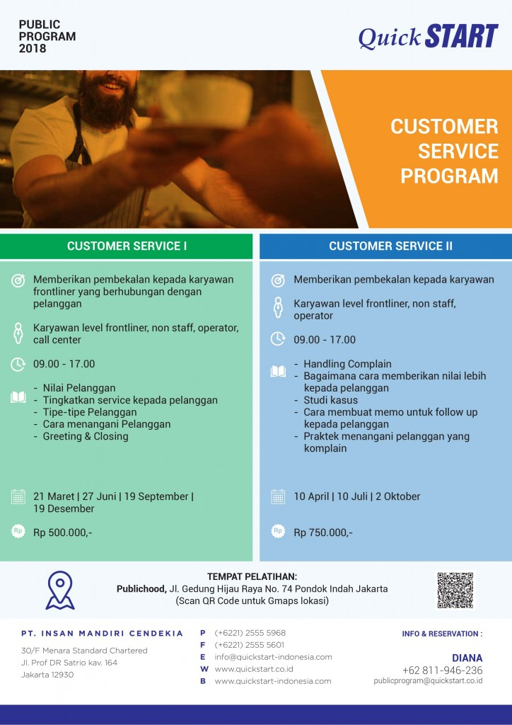 PP QuickSTART 2018 - Customer Service Program