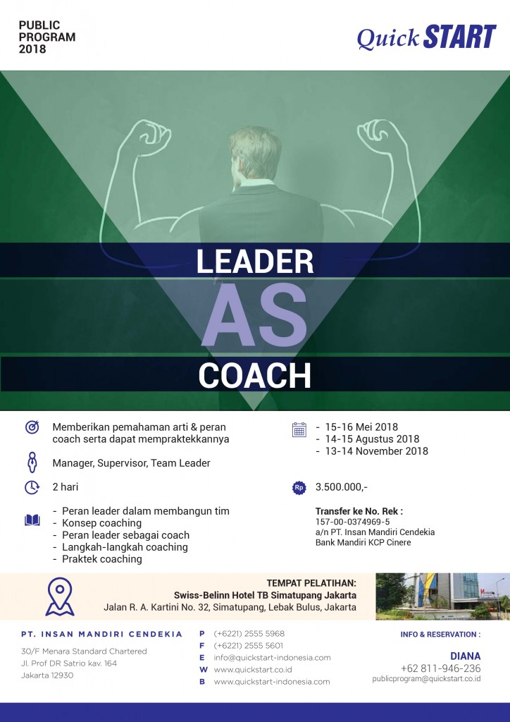 PP QuickSTART 2018 - Leader as Coach